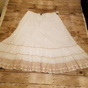 Lauren Ralph Lauren Drawstring Waist Maxi Skirt XL